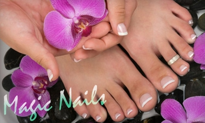 Magic Nails - Multiple Locations: $25 for a Standard Manicure and Pedicure at Magic Nails