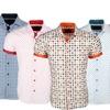 Azaro Uomo Men's Slim-Fit Short-Sleeve Shirt