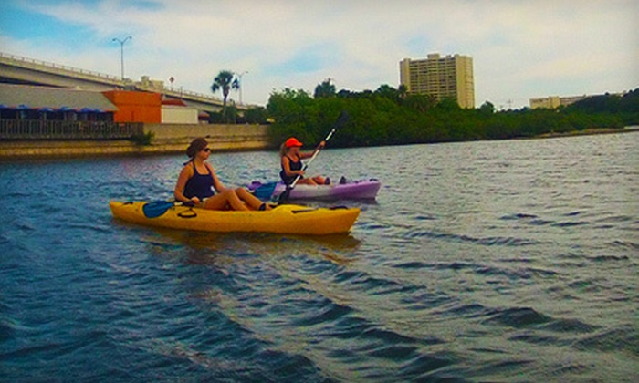 Chain of Lakes Kayak Rentals - Rochelle Terrace: Two-Hour Rental of One Tandem Kayak or Two Single Kayaks from Chain of Lakes Kayak Rentals (Up to 53% Off)