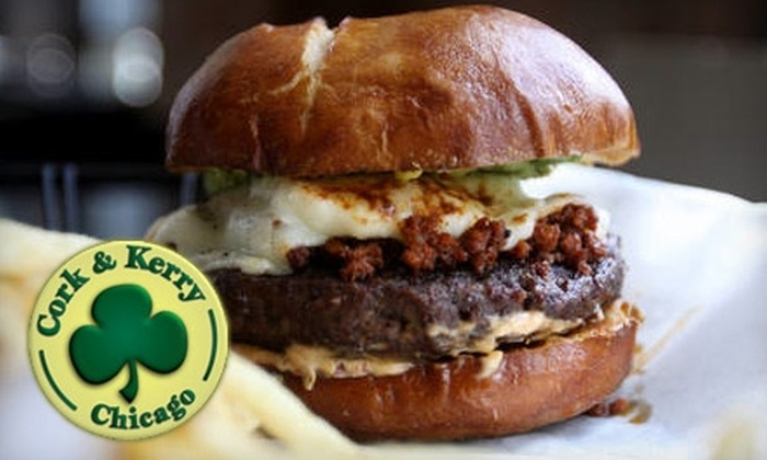Cork & Kerry - Beverly: $15 for $30 Worth of Pub Fare and Drinks at Cork & Kerry