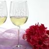 Custom Wedding White Wine Glass (1- or 2-Pack)