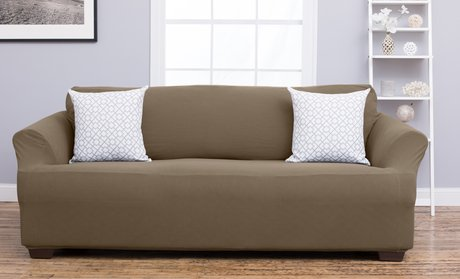 Plush Stretchy Form-Fitting Heavyweight Slipcover