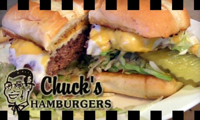 Chuck's Hamburgers - Lakeview: $7 for $14 Worth of Diner Fare at Chuck's Hamburgers