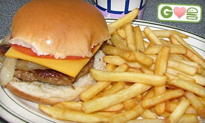 Harmony Lunch - Waterloo: $5 for Burger, Fries, and Soft Drink at Harmony Lunch in Waterloo (Up to $11.87 Value)