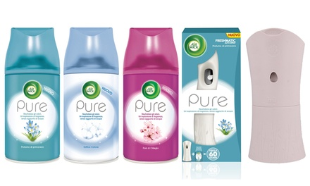 Fino a 12 autospray pure Air Wick con diffusore disponibili in 3 fragranze