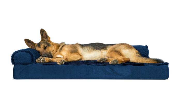plush velvet sofastyle orthopedic pet bed plush velvet chaise