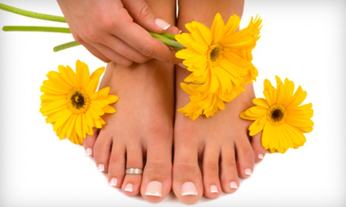 Modern Salon - Cypress Knoll: Paraffin Manicure and French Pedicure or Spa Manicure and Deluxe Spa Pedicure at Modern Salon