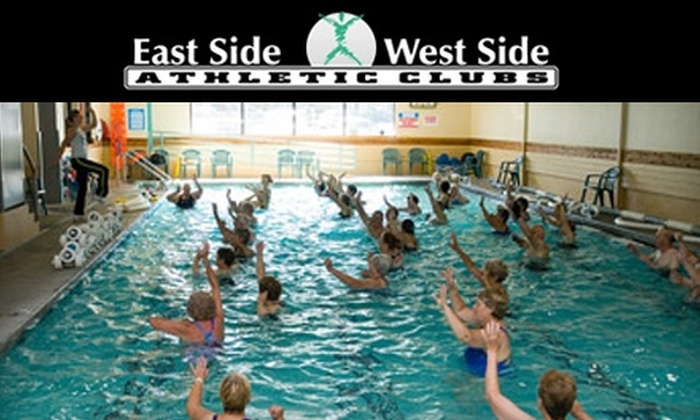 East Side and West Side Athletic Clubs - Multiple Locations: $25 for a 25-Day Membership and One Training Session at East Side and West Side Athletic Clubs ($69.14 Value)