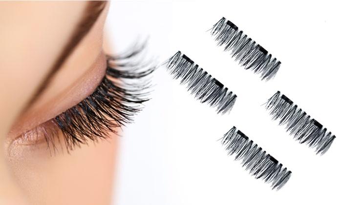 642276ec1e8 Magnetic False Eyelashes—1 Set (2 Pairs)—Reusable Ultra-Thin 3D Fiber