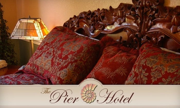The Pier Hotel - Downtown St. Petersburg: $59 for a One-Night Deluxe Room Stay with a Bottle of Wine and Breakfast at The Pier Hotel (Up to $198 Value)