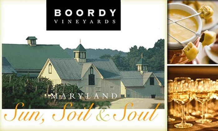 Boordy Vineyards - 11: $9 for Fondue, Wine Tasting, Music, and Winery Tour on Feb. 7 at Boordy Vineyards