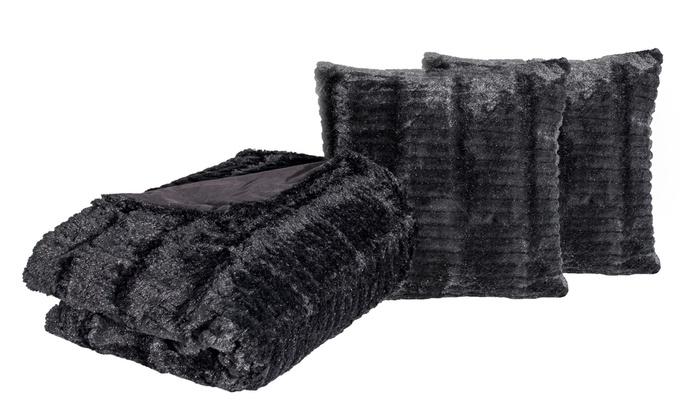 Parure de lit alaska en fausse fourrure groupon - Housse de couette fourrure ...