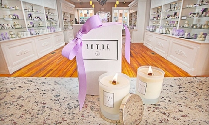 Zotos The Store - Geneva: $5 for $15 Worth of Eco-Friendly Candles and Bodycare Products at Zotos The Store in Geneva