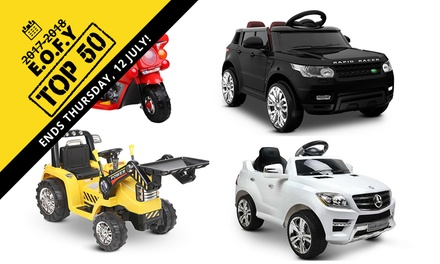 From $59 for a Kids' Ride-On Electric Car or Motorbike Toy