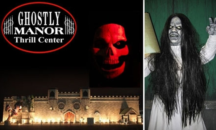 Ghostly Manor - Perkins: $5 for an Adult Ticket to Ghostly Manor Haunted House on Sunday ($11 Value)