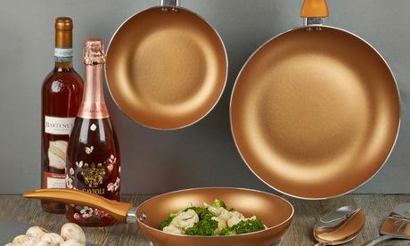 Sartenes y ollas chapadas en cobre