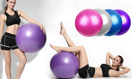 Yoga Exercise Ball: 55cm ($22), 65cm ($24) or 75cm ($26)