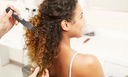 Braidless Sew-In Extensions or Silk Press and Curls at Cherie Amour Beauty (Up to 52% Off)