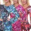 Juliana Women's Printed Bell Sleeve Dress
