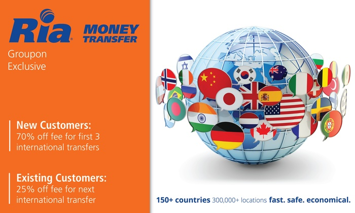Ria Money Transfer 70 Off Fees