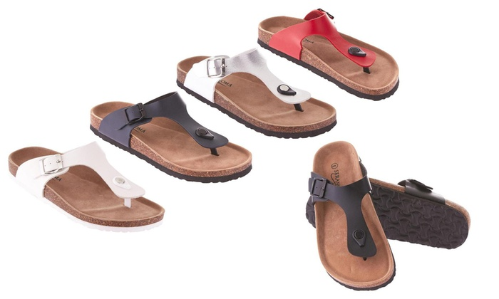 193512aa4e Seranoma Women's Thong Slide-On Sandal with Cork Wedge Sole