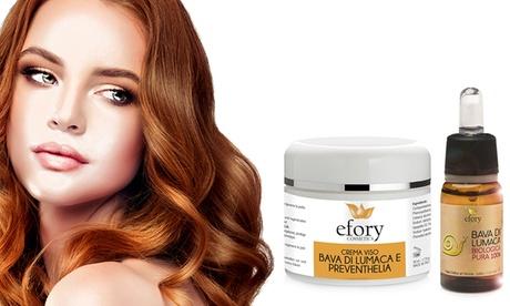 Crema facial de caracol, Bava y Preventhelia y/o baba de caracol Efory Cosmetics