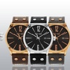So & Co New York Men's Leather-Strap Dress Watch