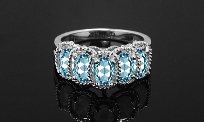 5.00 CTTW Genuine Gemstone Blue Topaz Ring by Gemma Luna ...