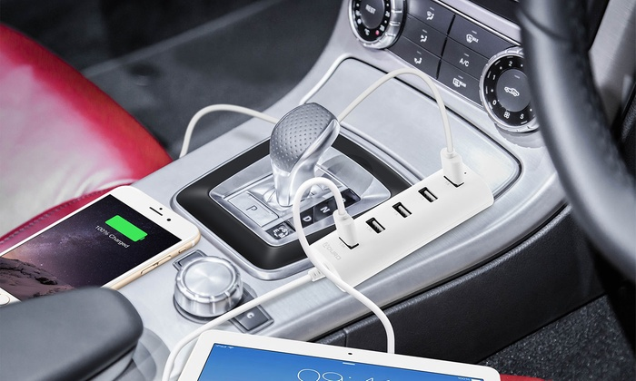 Aduro PowerUp 6-Amp 5-Port USB Car Charger