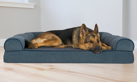 Faux-Fleece Chenille Soft Woven Sofa-Style Orthopedic Pet Bed