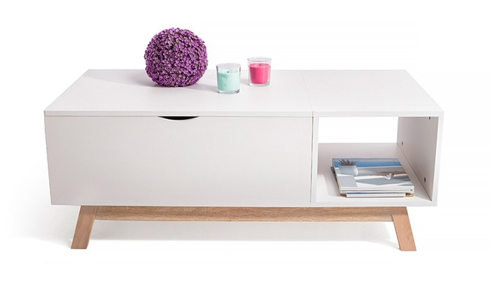 Table Basse Relevable Scandinave Groupon