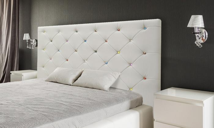 t te de lit strass bacara ou bijoux groupon shopping. Black Bedroom Furniture Sets. Home Design Ideas