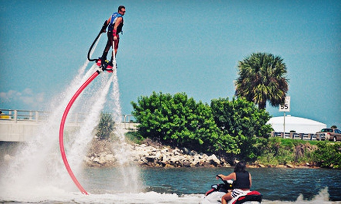 Jump Right In Flyboarding - Flyboarding in Merritt Island: 30-Minute Flyboard Flight for One or Two from Jump Right In Flyboarding (Up to 58% Off)