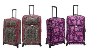 U.s. Traveler Two-piece Spinner-wheel Luggage Set