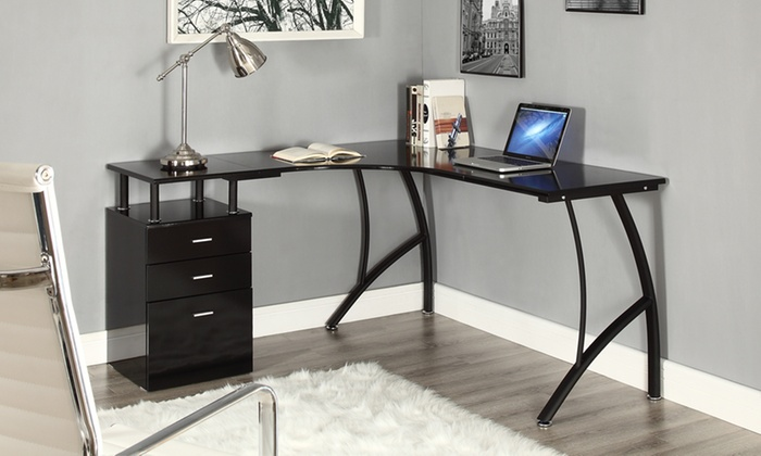Bureau dangle avec tiroirs groupon