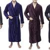 Twin Boat Men's Coral Fleece Plush Full-Length Robe