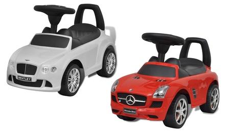VidaXL Rutscherauto Mercedes oder Bentley für Kinder in Rot oder Weiß