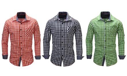 Groen Geruit Overhemd.Geruit Overhemd Voor Mannen Met Lange Mouwen Nedelands Reviews