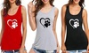 Leo Rosi Women's Dog Lover Tank. Plus Sizes Available.