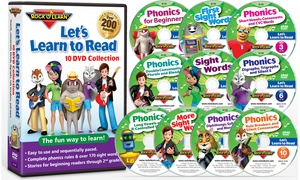 Let's Learn to Read 10-DVD Collection