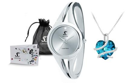Reloj y/o collar SC Crystal Paris con cristales Swarovski®