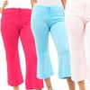 Women's French Terry Flared Capris