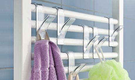 Pack de 2 o 6 ganchos para toallas a colocar en calefactor
