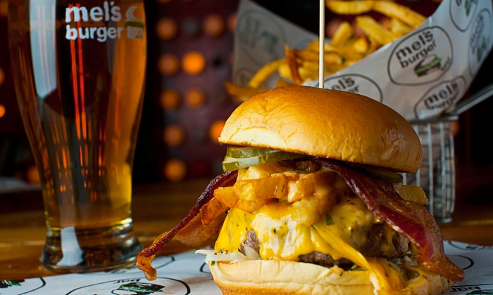 Mel's Burger Bar - Upper West Side: Burgers and Beer for Two or Four at Mel's Burger Bar (Up to 56% Off)