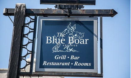 TwoCourse Set Menu with Wine or Bellini Cocktail for Two or Four at The Blue Boar Abridge Gastro Hotel