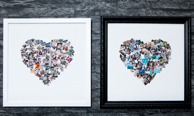 Personalised Collage Framed Canvas Print: Regular ($11.95) or Large ($20) (Dont Pay up to $127.31)