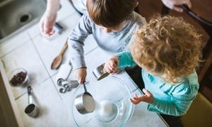 Freelandia: Freelandia - aperitivo per 2 adulti e fino a 3 bambini con laboratorio di cucina e pranzo (sconto fino a 81%)