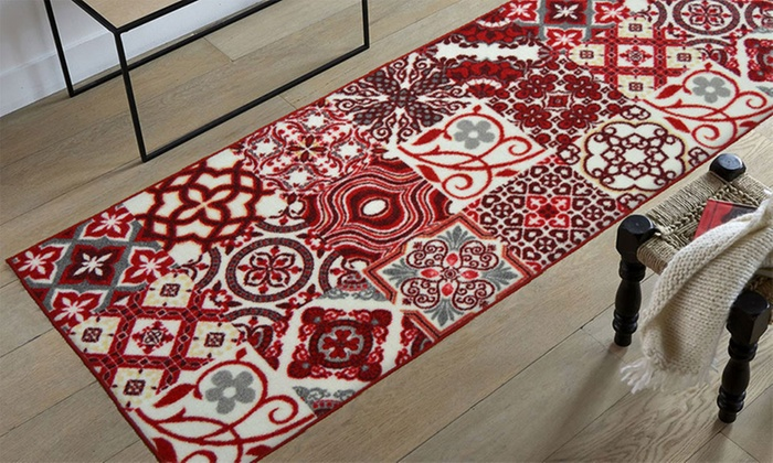 Tapis imitation carreaux de ciment groupon shopping - Carreaux de ciment imitation ...