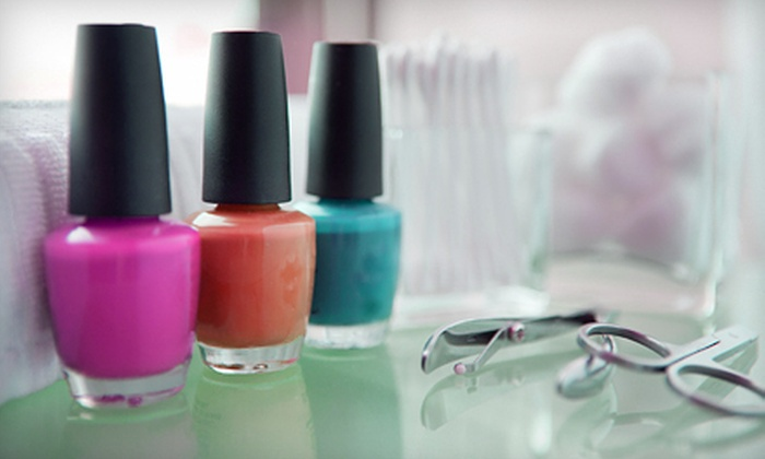 New Beginnings Nail Salon - Londonderry: Manicure and Pedicure Packages at New Beginnings Nail Salon (Up to 55% Off). Three Options Available.