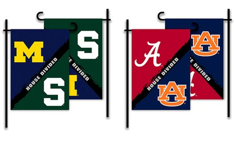 NCAA House Divided 2-Sided Garden Flag